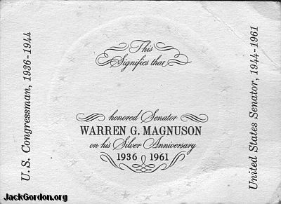 Warren Magnusen 25th reverse