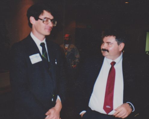 "James ""Jim"" Moffa and John Gordon at an RASW meeting."