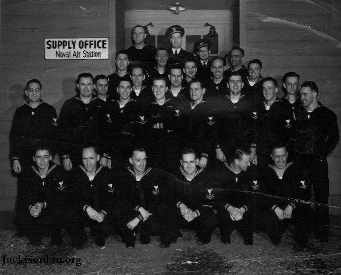 Some of the sailors who served with Jack Gordon in WWII. Picture from JackGordon.org