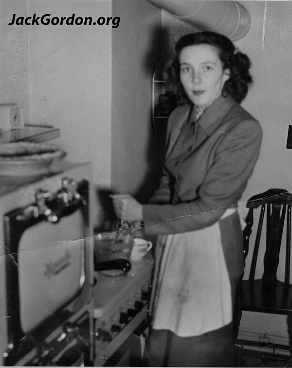 Roberta cooking late 1940s