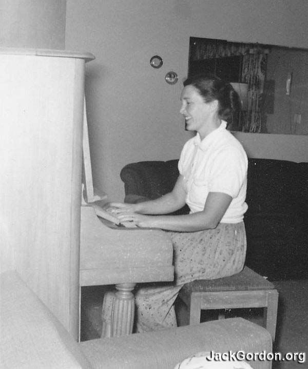 Piano Playing Roberta, 1960