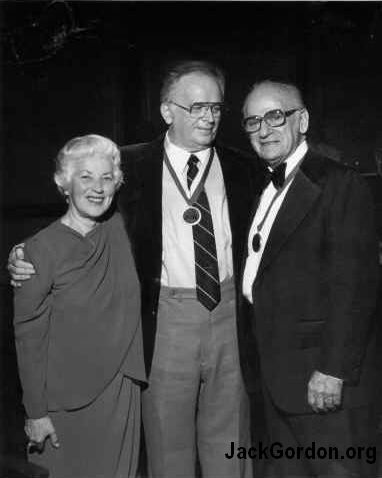 Jack Gordon with Lt. Governor John and Betty Cherberg in 1984.