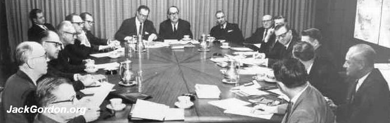 Jack Gordon and Restaurant Association Board in 1966